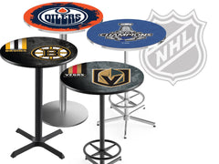NHL Pub Tables with Team Logos by Holland Bar Stool