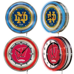 NCAA College Logo Neon Clock by Holland Bar Stool Company