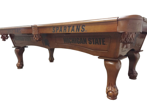 Holland Gameroom Michigan State Universit Laser Engraved Pool Table