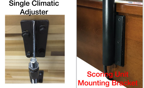 Shuffleboard Table Scoring Unit Bracket and Single Climatic Adjuster