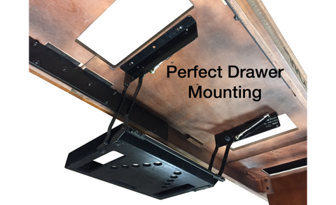 Shuffleboard Table Perfect Drawer Mounting