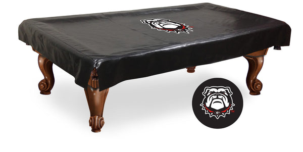 Georgia Bulldog Pool Table Cover