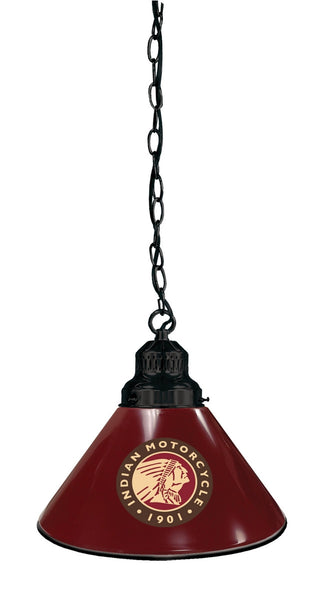 Indian Motorcycles Burgundy Billiard Table Pendant Light