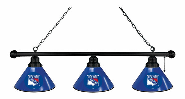New York Rangers 3 Shade Billiard Light