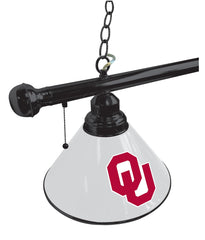 University of Oklahoma Pool Table Lamp Close Up