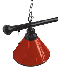 Red Non-Logo Plain Billiard Table Light Close Up