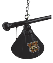 Western Michigan University Pool Table Lamp Close Up