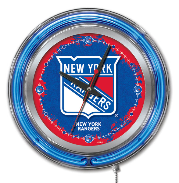 "15"" New York Rangers Neon Clock"