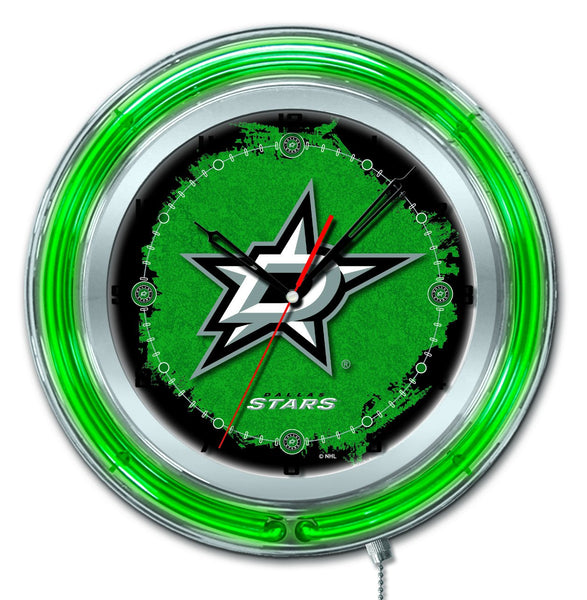"19"" Dallas Stars Neon Clock"