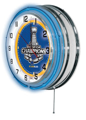"19"" St. Louis Blues Stanley Cup Neon Clock"