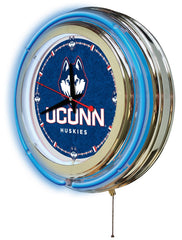 "15"" University of Connecticut Huskies Neon Clock"