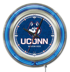 "University of Connecticut Huskies 15"" Neon Clock"