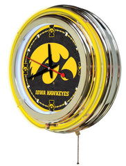 "15"" Iowa Hawkeyes Neon Clock"