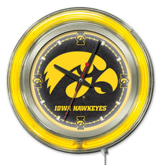 "Iowa Hawkeyes 15"" Neon Clock"