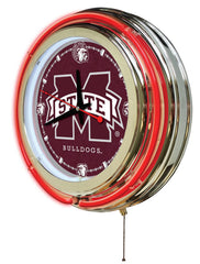"15"" Mississippi State University Bulldogs Neon Clock"