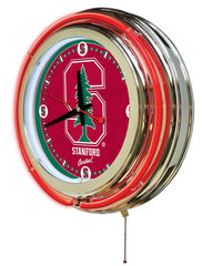 "15"" Stanford Cardinals Neon Clock"