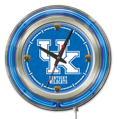 "University of Kentucky Wildcats UK Scripts 15"" Neon Clock"