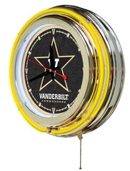 "15"" Vanderbilt Commodores Neon Clock"