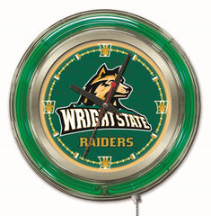"Wright State Raiders 15"" Neon Clock"