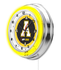 "19"" Appalachian State Mountaineers Neon Clock"