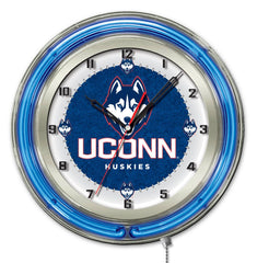 "19"" University of Connecticut Huskies Neon Clock"