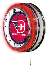 "19"" Dayton Flyers Neon Clock"