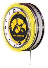 "19"" Iowa Hawkeyes Neon Clock"