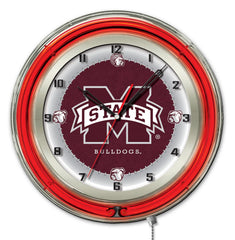 "19"" Mississippi State University Bulldogs Neon Clock"