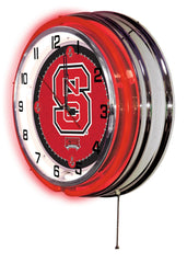 "19"" NC State Wolfpack Neon Clock"