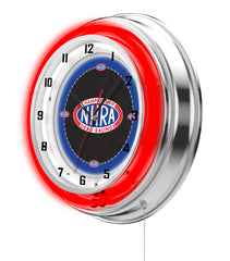 "19"" NHRA Drag Racing Neon Clock"
