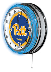 "19"" Pittsburgh Panthers Neon Clock"