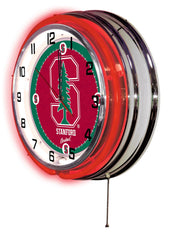 "19"" Stanford Cardinals Neon Clock"