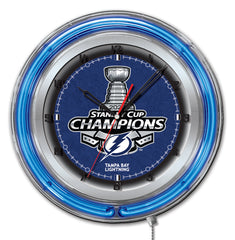 "19"" Tampa Bay Lightning 2020 Stanley Cup Neon Clock"