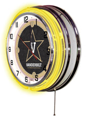 "19"" Vanderbilt Commodores Neon Clock"