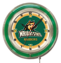 "19"" Wright State Raiders Neon Clock"