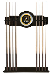 United States Army Cue Rack with Black Finish