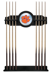 Clemson University Cue Rack with Black Finish