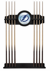 Tampa Bay Lightning Cue Rack with Black Finish