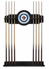 Winnipeg Jets Cue Rack with Black Finish