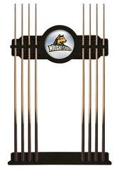 Wright State University Cue Rack with Black Finish