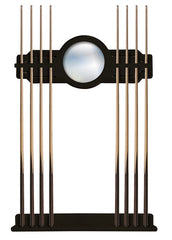 Black Cue Rack, Wall Rack, Billiard Accessories, Pool Table Cue Rack with Black Finish