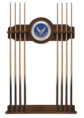 United States Air Force Cue Rack with Chardonnay Finish