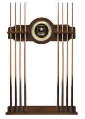 United States Army Cue Rack with Chardonnay Finish
