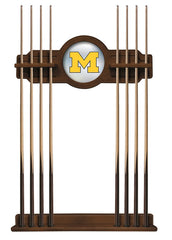 University of Michigan Cue Rack with Chardonnay Finish