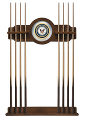 United States Navy Cue Rack with Chardonnay Finish