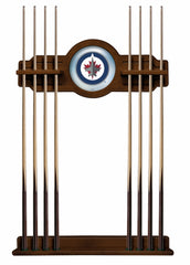 Winnipeg Jets Cue Rack with Chardonnay Finish