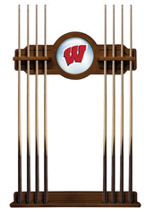 University of Wisconsin W Block Cue Rack with Chardonnay Finish
