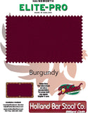 Elite-Pro Burgundy Non-Logo Billiard Cloth