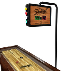 Non-Logo Chardonnay Shuffleboard Scoring Unit on Table