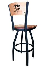 Pittsburgh Penguin L038 Laser Engraved Bar Stool by Holland Bar Stool